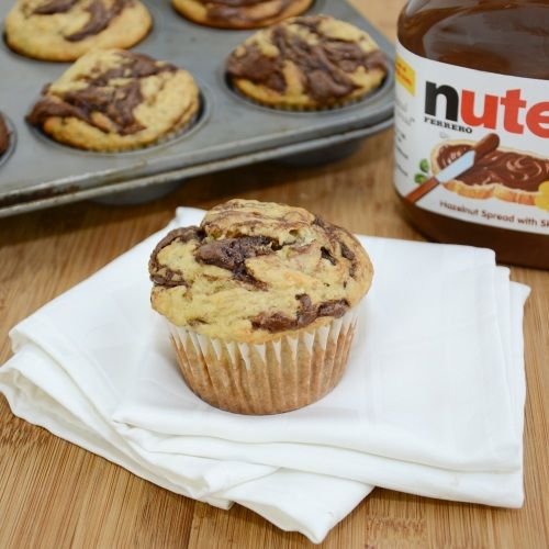Banana Nutella Muffins - Made for the boys and they were a winner!  Very moist with great banana flavor and Nutella - need I say more?
