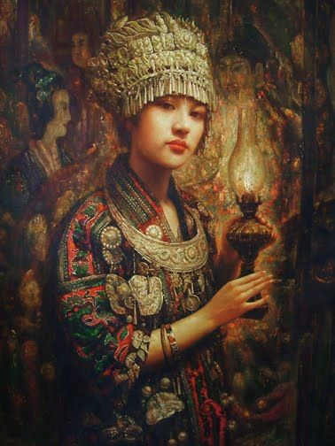21 best hmong paintings images on Pinterest | Limited ... Miao People Art
