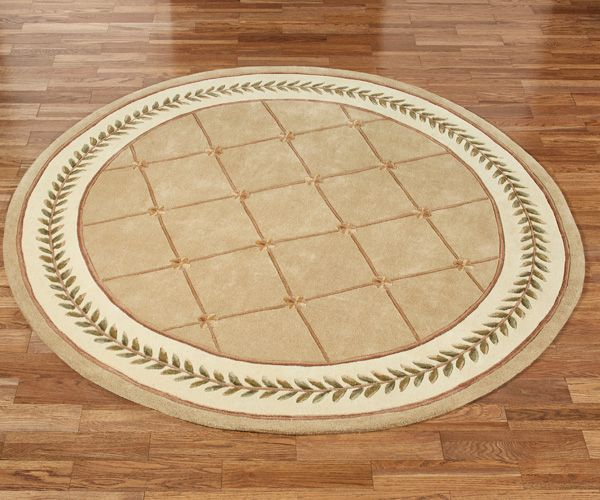 Floral Trellis Round Rug Area Rugs Round Rugs Rugs