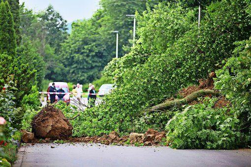 Nach einem Erdrutsch in der Panoramastraße in Nürtingen-Zizishausen haben 35 Menschen ihre Häuser verlassen müssen. Die Polizei vermutet eine unzureichende Bausicherung als Ursache für das Abrutschen einer Terrasse vor einem Neubau.