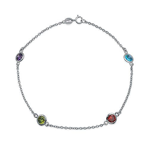 Multi Color CZ by the Inch Sterling Silver Anklet.More info for ladies anklets shop online;beach anklets;anklets online;sterling silver anklet chain;buy anklet could be found at the image url.(This is an Amazon affiliate link and I receive a commission for the sales)