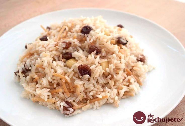 Si queréis variar el arroz blanco como acompañante en cualquier comida, os recomiendo este arroz árabe, una receta peruana deliciosa http://www.recetasderechupete.com/como-preparar-arroz-arabe-receta-peruana/10322/ #derechupete