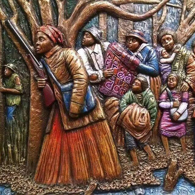 """On September 17, 1849, Harriet Tubman (born  Aramita """"Minty"""" Ross) escaped slavery with her brothers, Ben and Harry. Little is known about her journey or her early days in Philadelphia until she returned to guide family members and others to freedom. She was later quoted as saying, """"When I found I had crossed that line, I looked at my hands to see if I was the same person. There was such a glory over everything; the sun came like gold through the trees, and over the fields, and I felt like I…"""