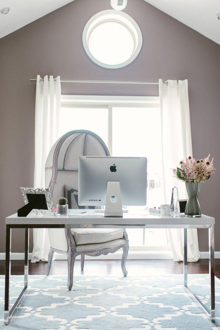 a designer 39 s chic home office office pinterest b ros hausbau und arbeitspl tze. Black Bedroom Furniture Sets. Home Design Ideas