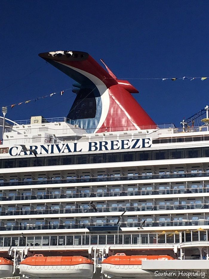 Sailing away on the Carnival Breeze. My tips for packing for a cruise and what you can expect on board! #carnivalpartner