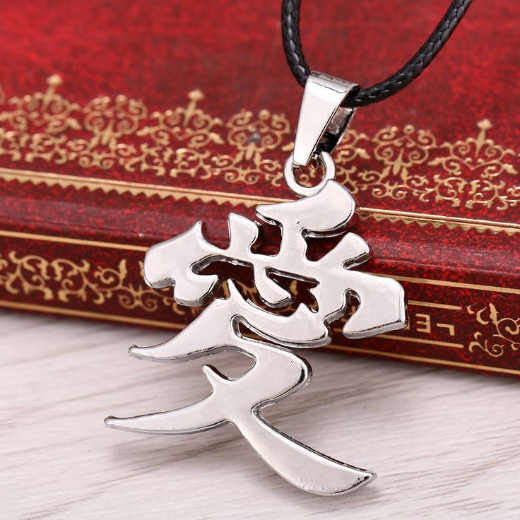 Hot Anime Naruto necklace 2016 Naruto Gaara family marks Love pendant necklace choker jewelry