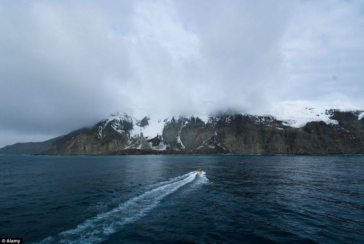 The uninhabited volcanic island of Bouvet is almost entirely covered by a stunning glacier...