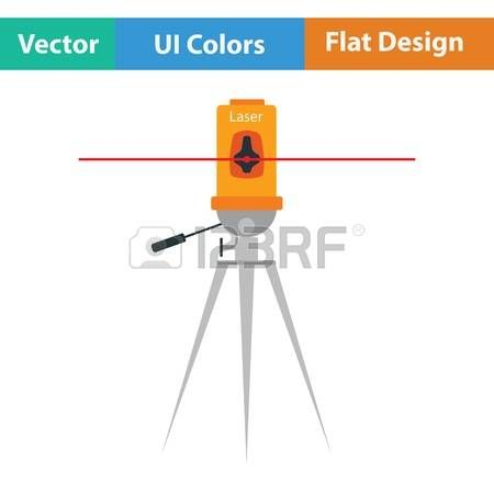 60068354-laser-level-tool-icon-flat-kleur-ontwerp-vector-illustratie.jpg (450×450)