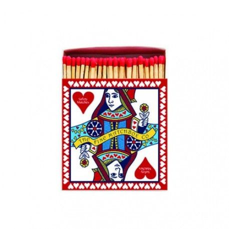 Queen of hearts match box