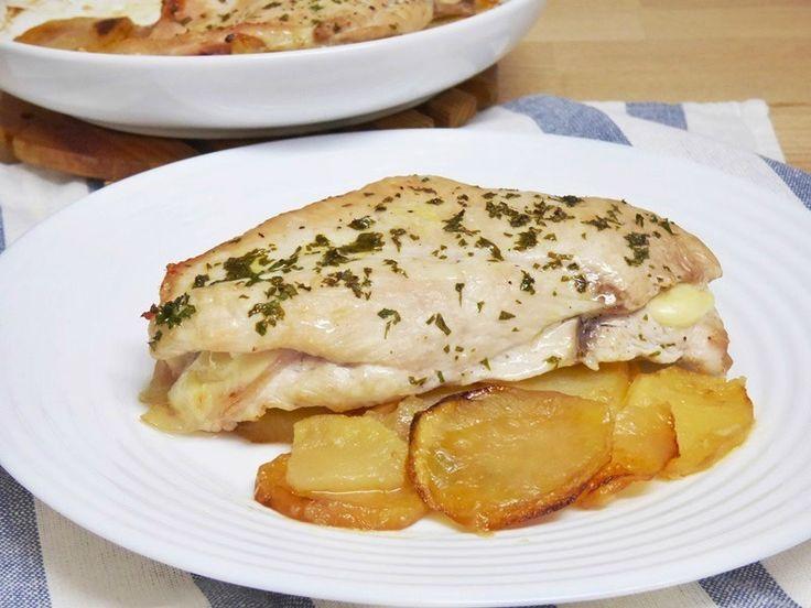 M s de 25 ideas incre bles sobre pechugas rellenas al - Pechugas de pollo al horno con patatas ...