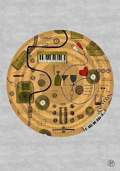 Elektronische Musik by 56STUFF: 56Stuff, Illustration