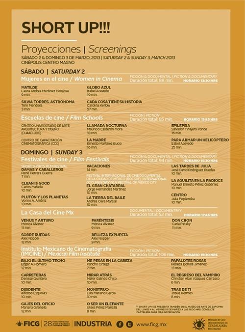 SHORT UP!! del 2 al 8 de marzo en las instalaciones del Mercado en Expo Guadalajara