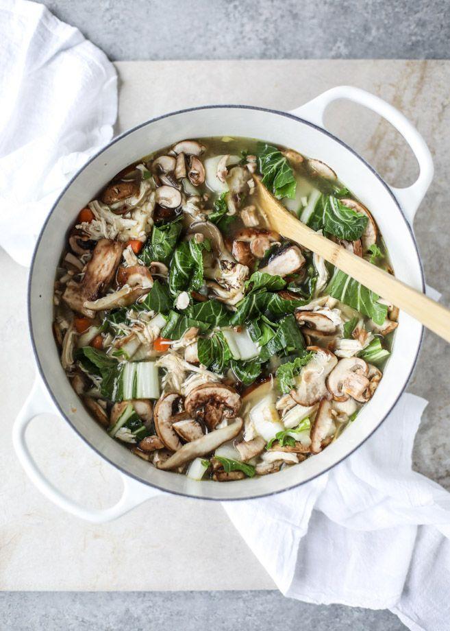 asian chicken soup I howsweeteats.com