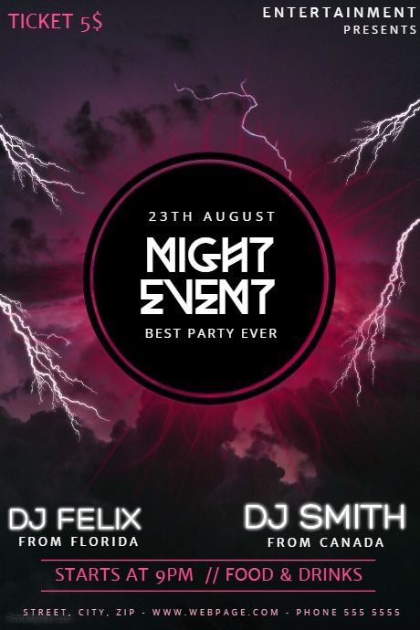 Best Event Poster Templates Images On   Event Poster