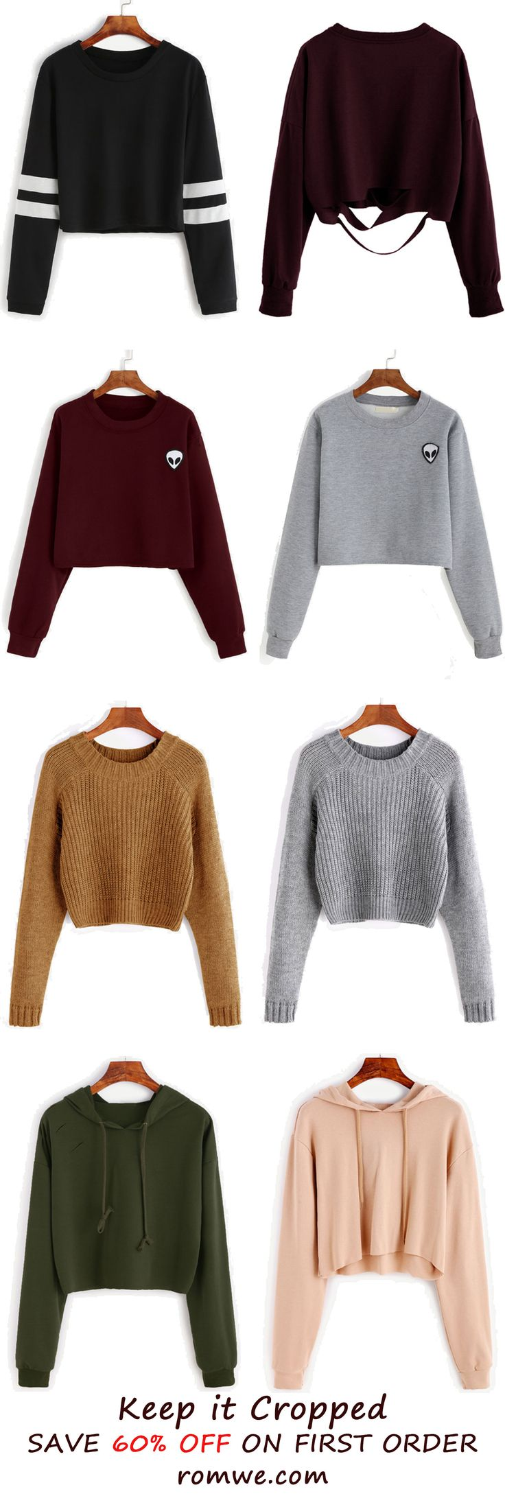 Fall & Winter Crop Tops Collection from romwe.com