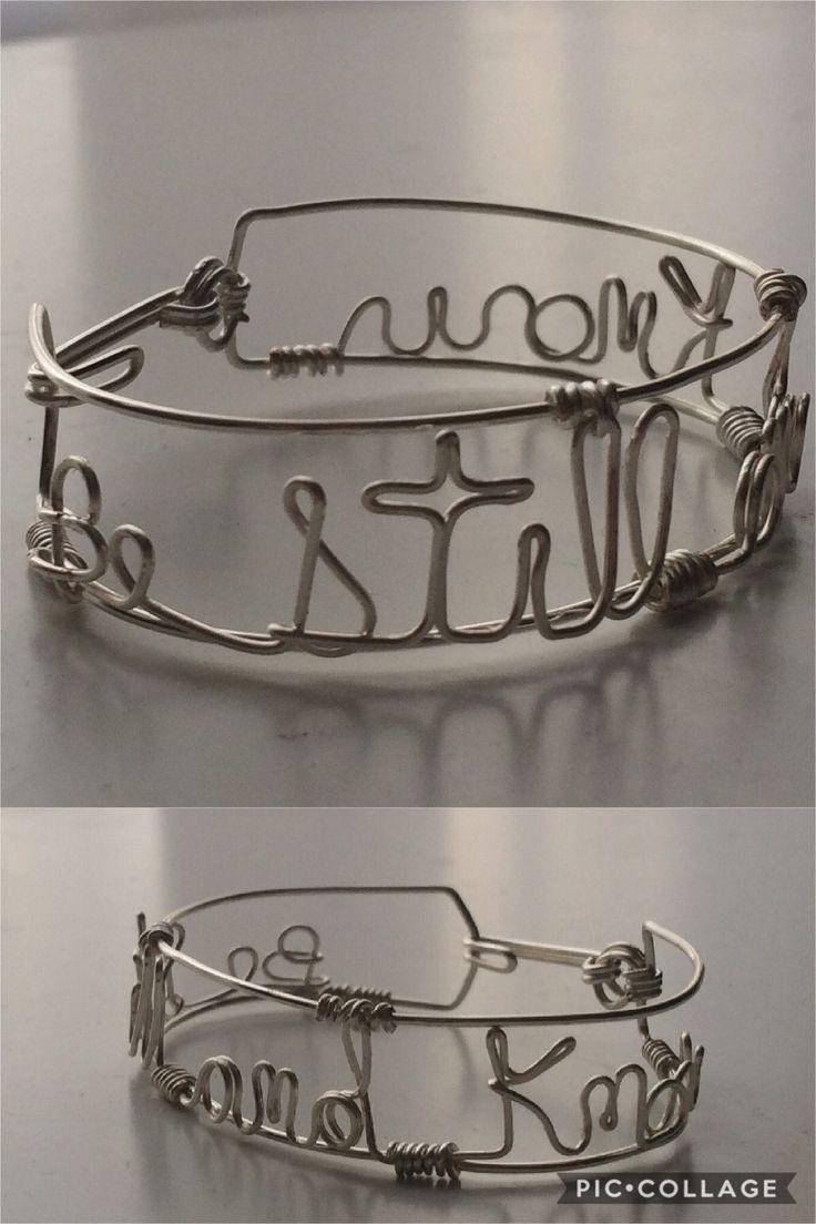 Be Still, Wire Bracelet, Silver Plated Wire, Inspirational Bracelet