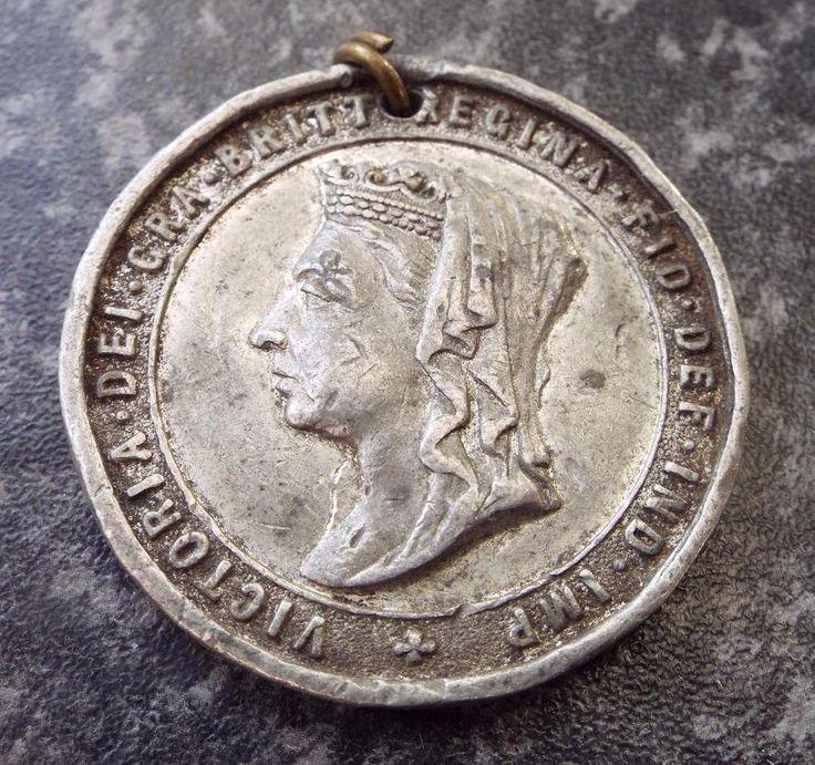 Antique Burton on Trent 1897 Queen Victoria Diamond Jubilee Medal