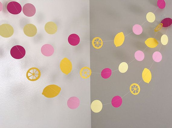 Pink Lemonade Birthday Decoration Lemonade Paper by ClassicBanners