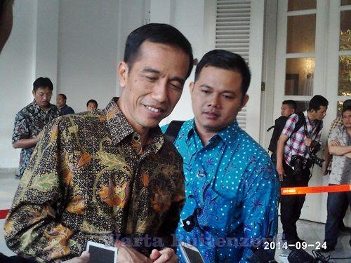 Jokowidodo bersama David Asisten Kepresidenan Pribadi