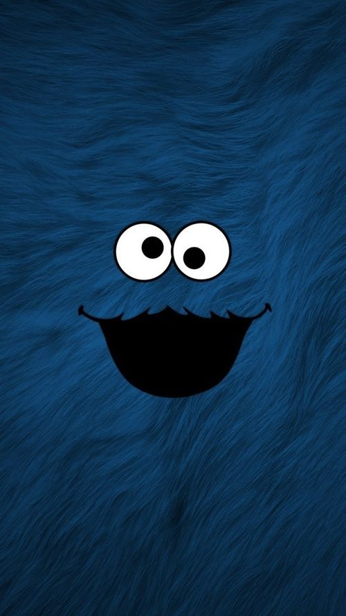 blue, wallpaper, and cookie monster
