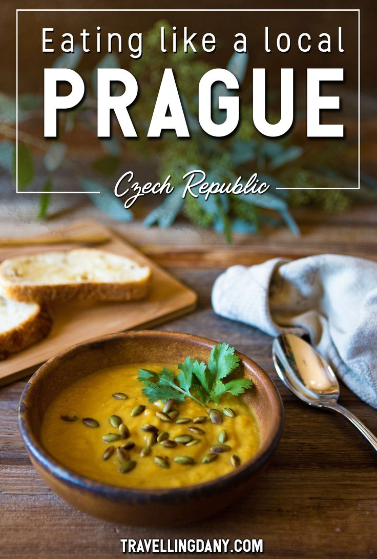 Prague (Czech Republic) is well-known for its beer, the clock and its bridge. Yet there are also some dishes that you absolutely have to try. Let's find out more about the best Czech food in Prague and where to eat where the locals eat. We'll go through secret gardens, historical cafés, and even an ancient bell tower. It includes vegetarian and vegan options! | #Prague #CzechRepublic #Europe #Food #Traditional via @travellingdany