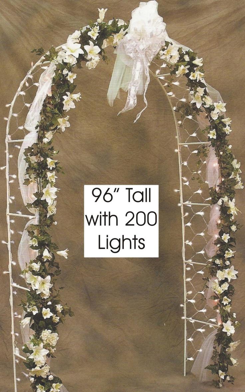 8' Prelit Wedding Arch with 200 Clear Net Lights   eBay