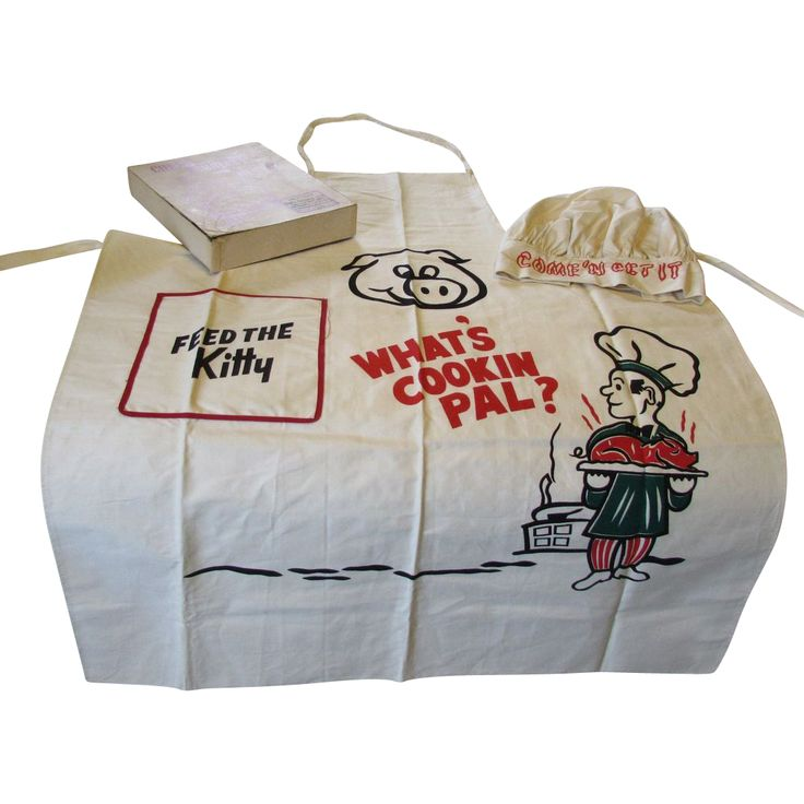 Vintage Chef's Barbecue Outfit Apron & Hat NOS