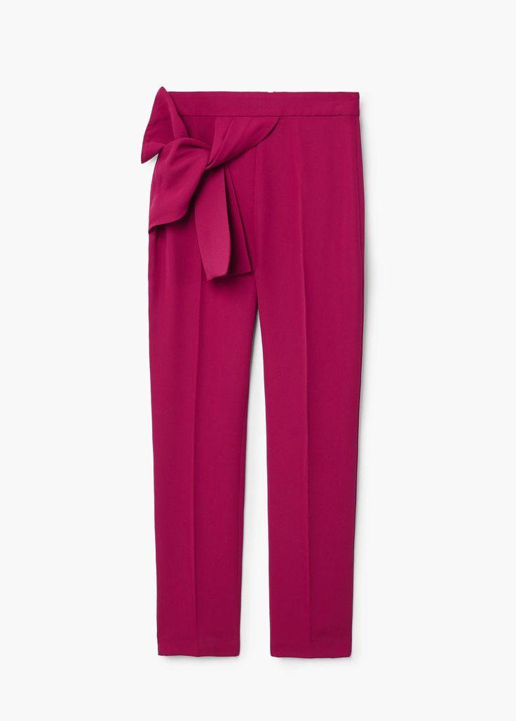 Knot detail trousers | MANGO
