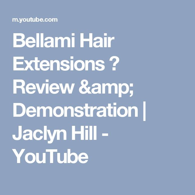 Bellami Hair Extensions ♡ Review & Demonstration   Jaclyn Hill - YouTube