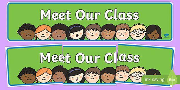 Meet Our Class Display Banner