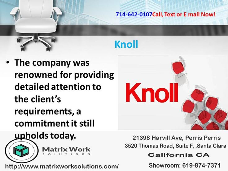 The #Knoll company was renowned for providing detailed attention to the client's requirements, a commitment it still upholds today.