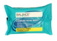 Balance 6 In 1 Cleansing Facial Wipes 25 Pack Balance Active Formula 6 in 1 Cleansing Facial Wipes have been specially formulated to deliver 6 benefits to your skin in one go. They not only cleanse, remove make-up and impurities, tone and moisturise, but they also help to soothe and care for the skin.