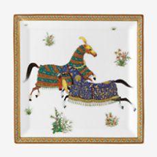 Cheval d'Orient square plate - P009844P