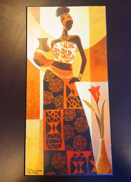 The AfroFusion Spot, art, african art, keith mallett, organce, painting