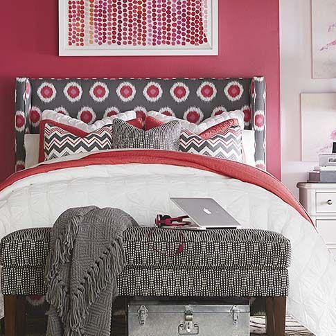Custom Upholstered Winged Dublin Bed By Bassett Furniture