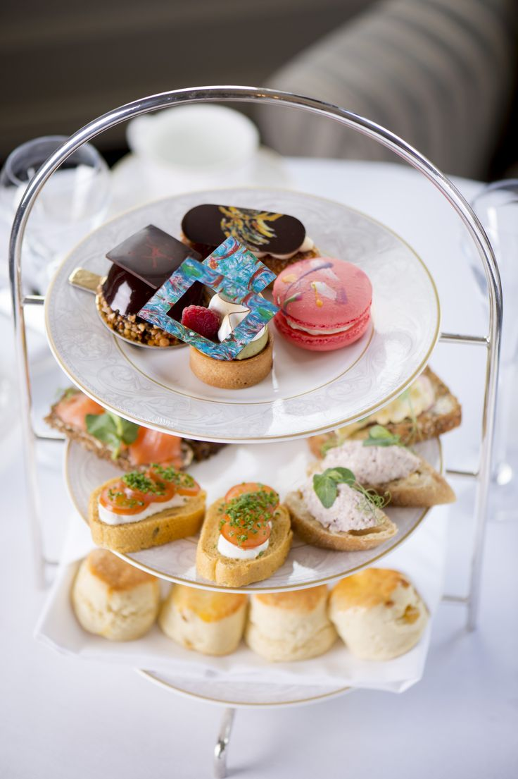 Michael Flatley with his artist inspired afternoon tea at The Shelbourne Hotel Dublin. Picture: Elaine Hill.