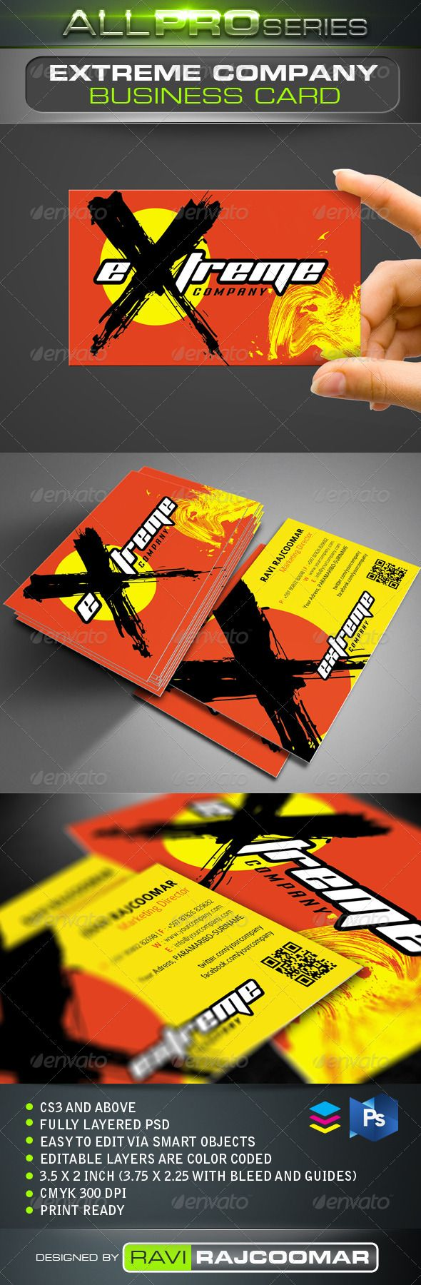 Extreme Company Business Card Business Cards Business
