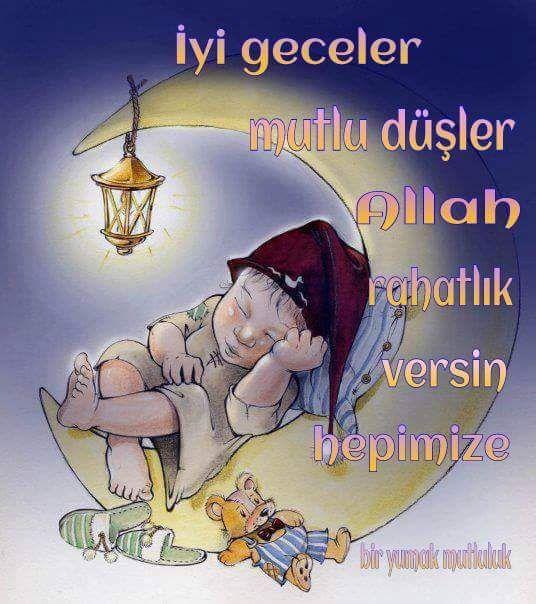 İyi geceler, mutlu düşler. Allah rahatlık versin hepimize #iyigeceler uyku bebek ay ayicik gece