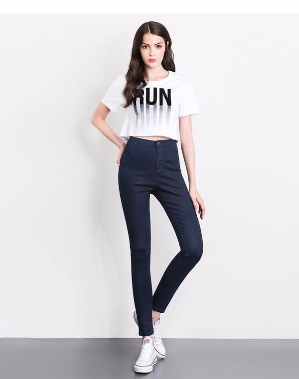 5249e7b9b71c2 LEIJIJJEANS 2019 women push up jeans Plus Size women pants High Waist Full  Length Women Casual Stretch Skinny Pencil women pants in 2019