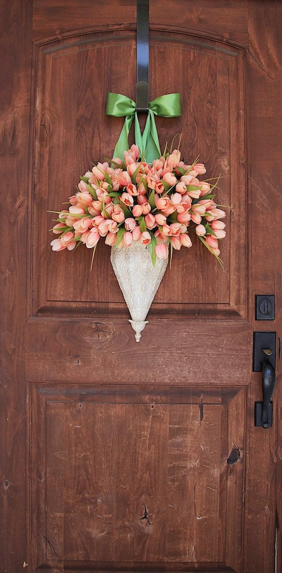 Spring Wreath Front door by maddyjanedesigns