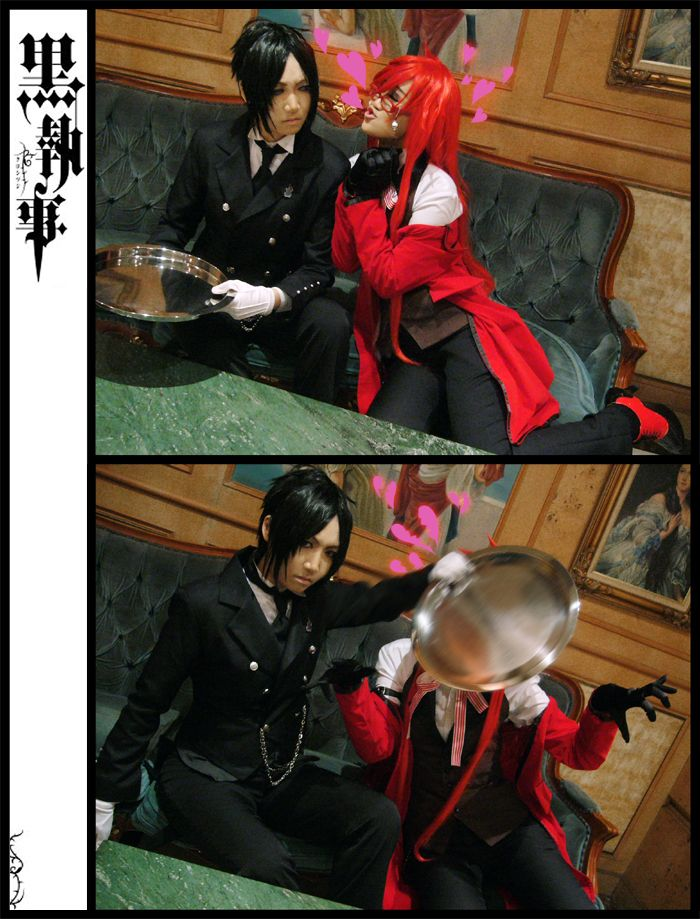 Sebastian and Grell (crossing the line) Kuroshitsuji/Black Butler