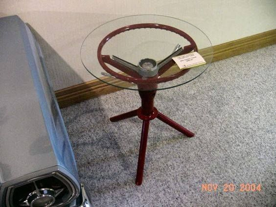 Steering Wheel End Table
