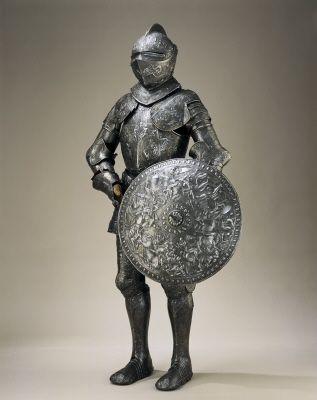 Visirjälm, Erik XIV, Rustningar