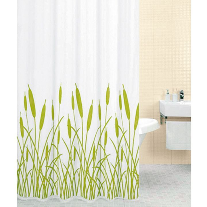 Duschdraperi Vass Vit Gron 180x200cm Shower Curtains Bauhaus