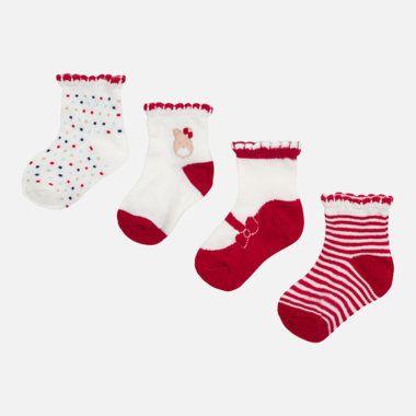 Dievčenský set ponožiek 4ks Mayoral - Red