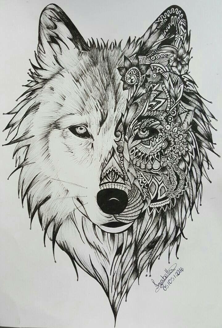 Pin By Observatoriovisual On Wolf Drawings Geometric Wolf Tattoo Wolf Tattoo Design Animal Tattoos