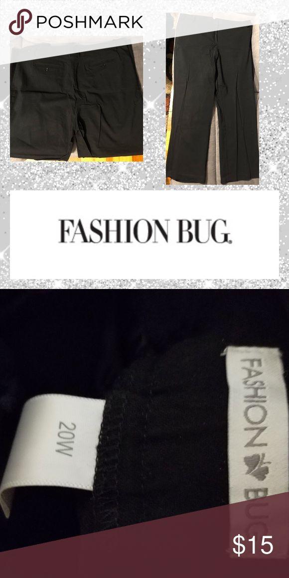 Plus size dress pants Like new black dress pants from fashion bug. Fashion Bug P…