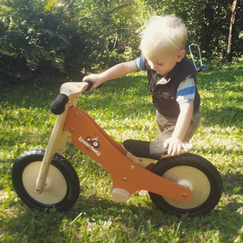 Kinder Feet Wooden Balance Bike has arrived in our Cairns Store! – Earth Toys