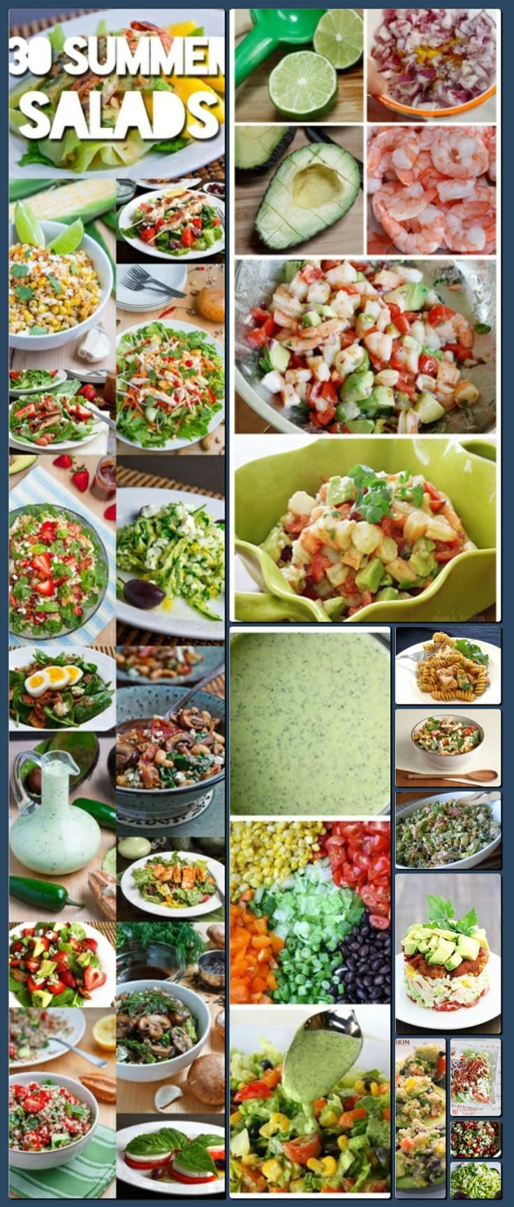 Salads, a board by @Cynthia Sanchez {Oh So Pinteresting} [Collage made with one click using http://pagecollage.com] #pagecollage