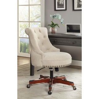 Linon Pamela Office Chair - White | Overstock.com Shopping - The Best Deals on Office Chairs
